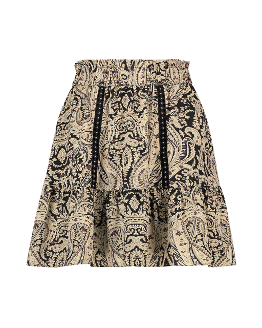 Aiko Paisley skirt black