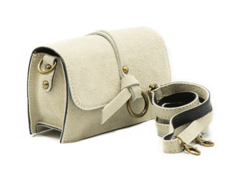 Chrissy suede bag off white