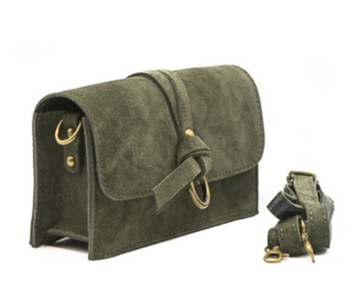 Chrissy suede bag khaki