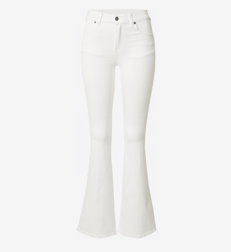 Corel flared pants- white