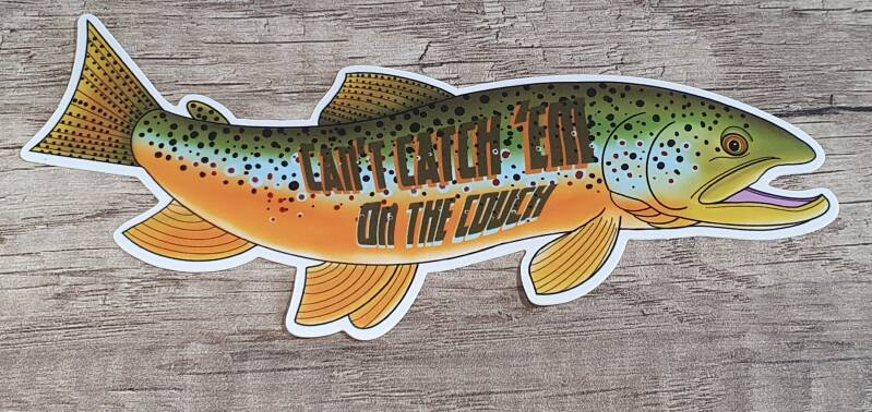 sticker - Decals: Can't Catch 'Em On The Couch