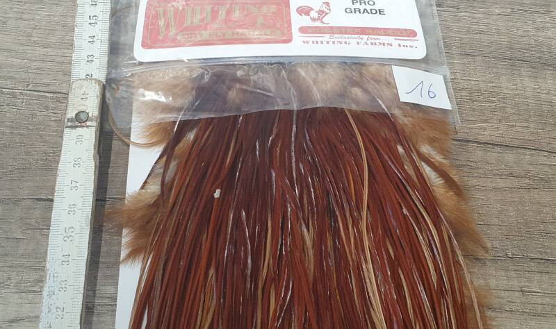 Whiting Pro-Grade Rooster Saddle  Brown NR16