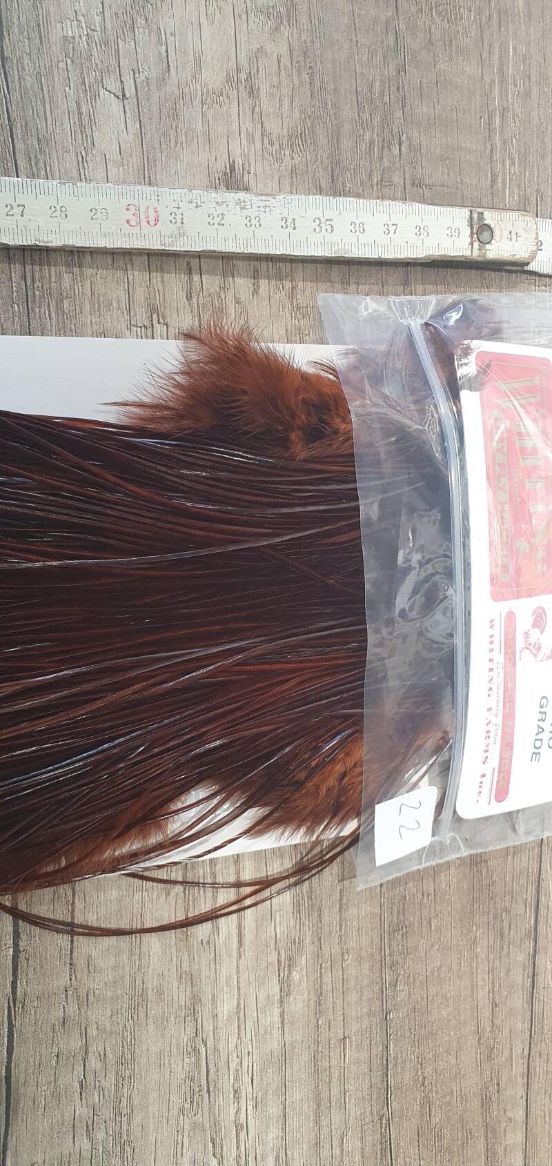 Whiting Pro-Grade Rooster Saddle MIDGE  coachman brown NR22