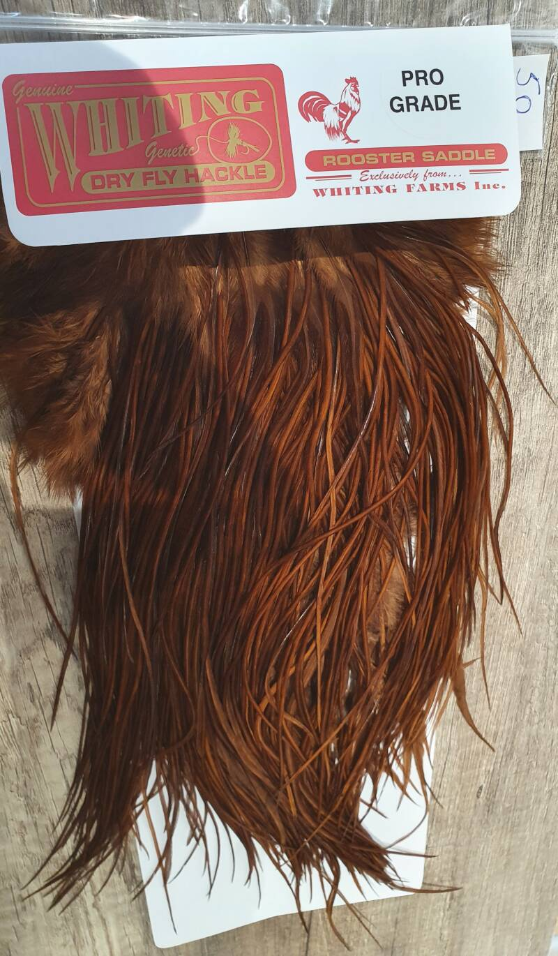 whiting pro grade saddle dyed natural brown nr50