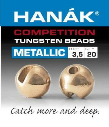 HANAK METALLIC+ SLOTTED TUNGSTEN BEADS  ROUGE GOLD