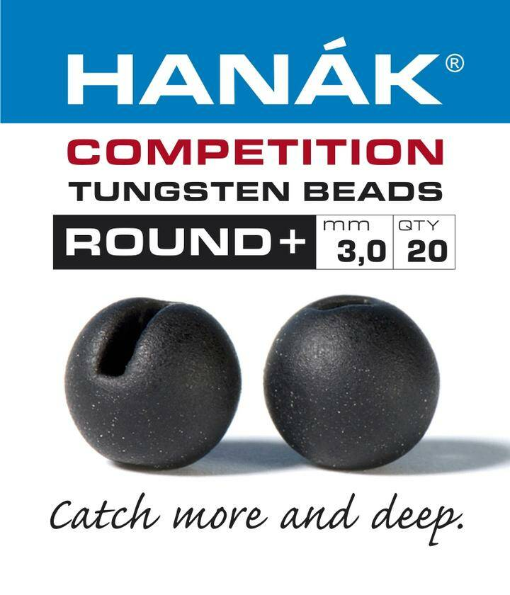 Hanak slotted Tungsten Round + Black matt