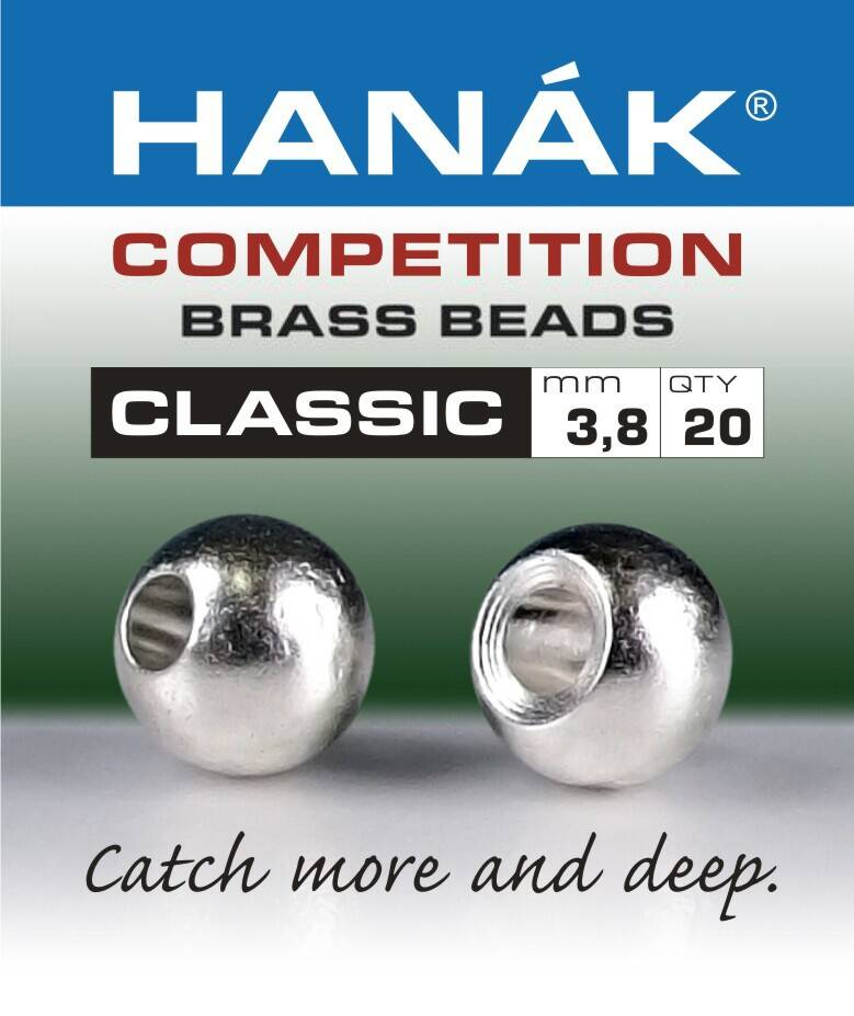 Brass Beads Hanak Competition CLASSIC Silver