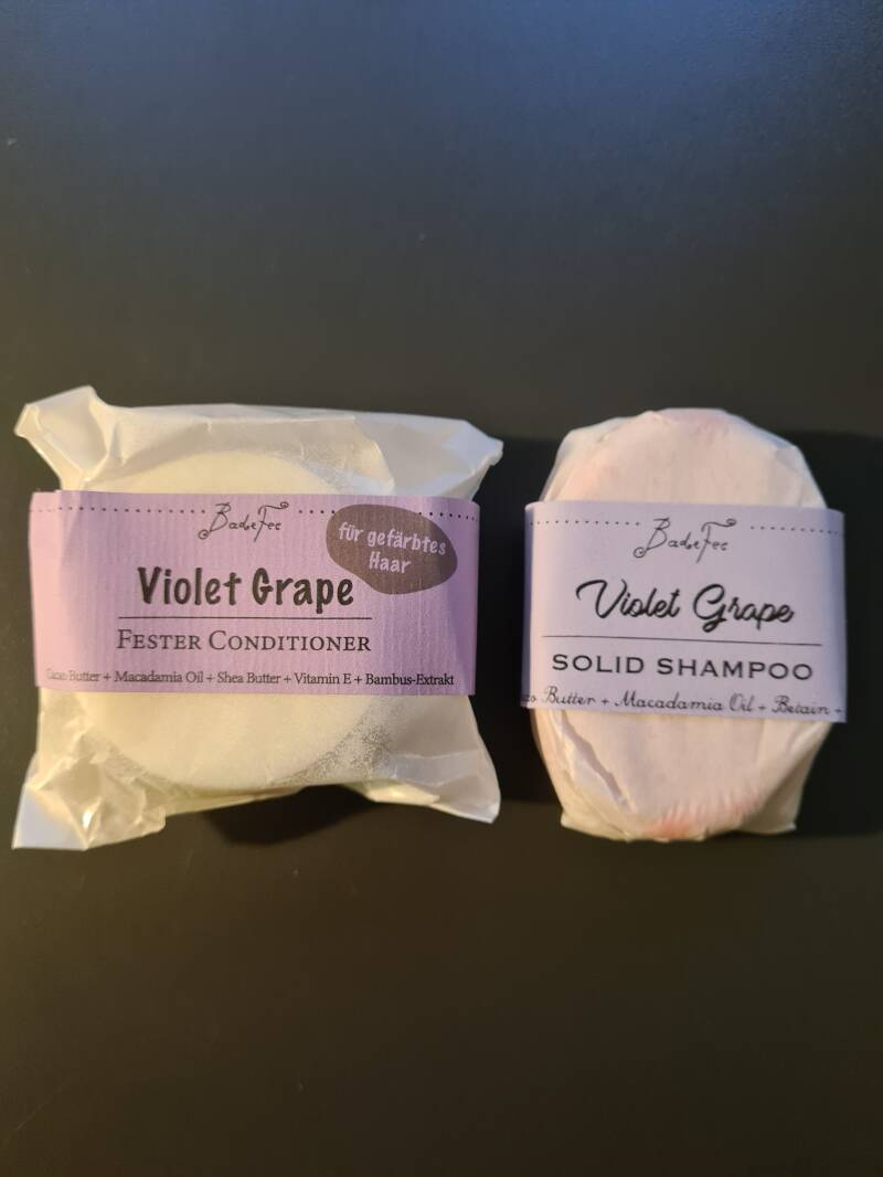 Violet Grape Festes Shampoo + Conditioner im Set - pflegend