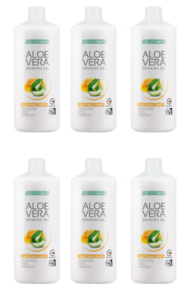 Aloe Vera Drinking Gel Traditionell mit Honig 6er Set - Lifetakt