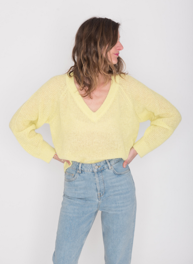 franchesca knit yellow mbym