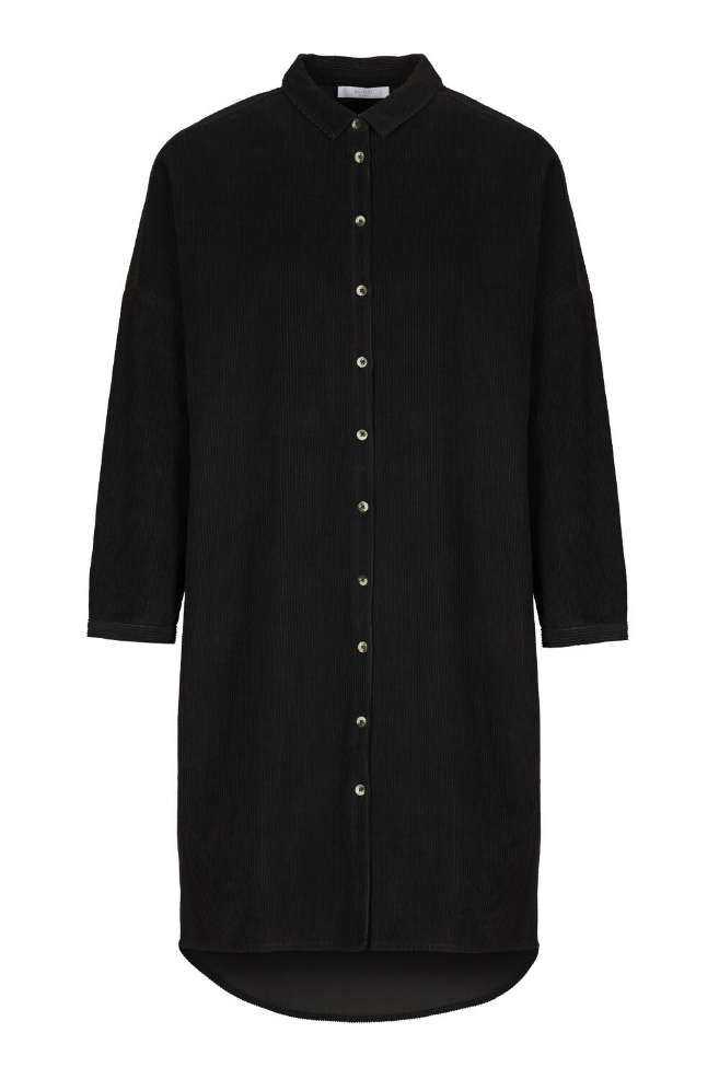corduroy dress black