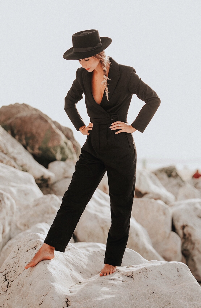 jumpsuit sun black