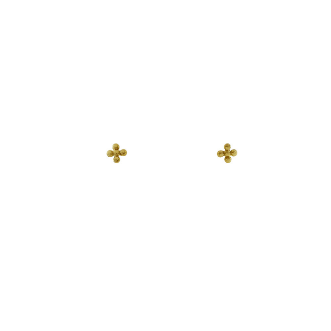 stud flower dot gold (pair)