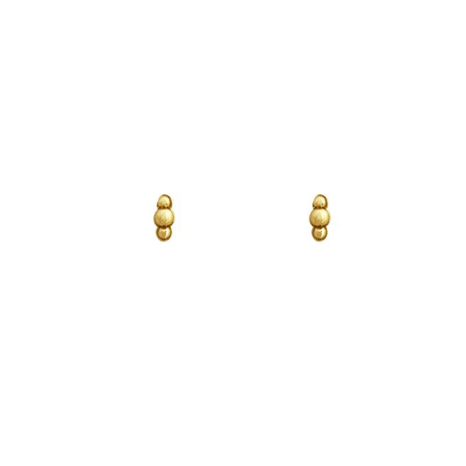stud wieber dot gold (pair)