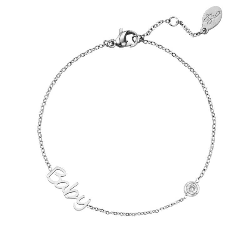 Armband baby zilver