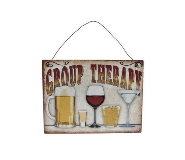 """Hanger """"Group Therapy"""" metaal 20 x 15 cm"""