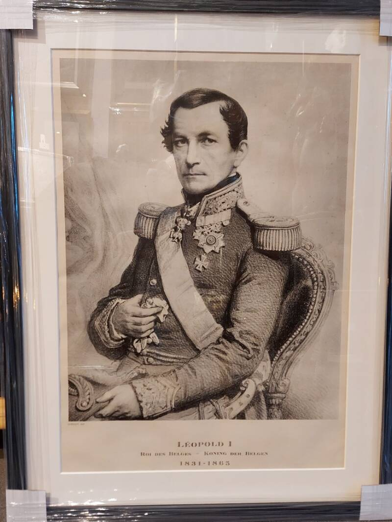 LARGE LITHOGRAPHY LEOPOLD I
