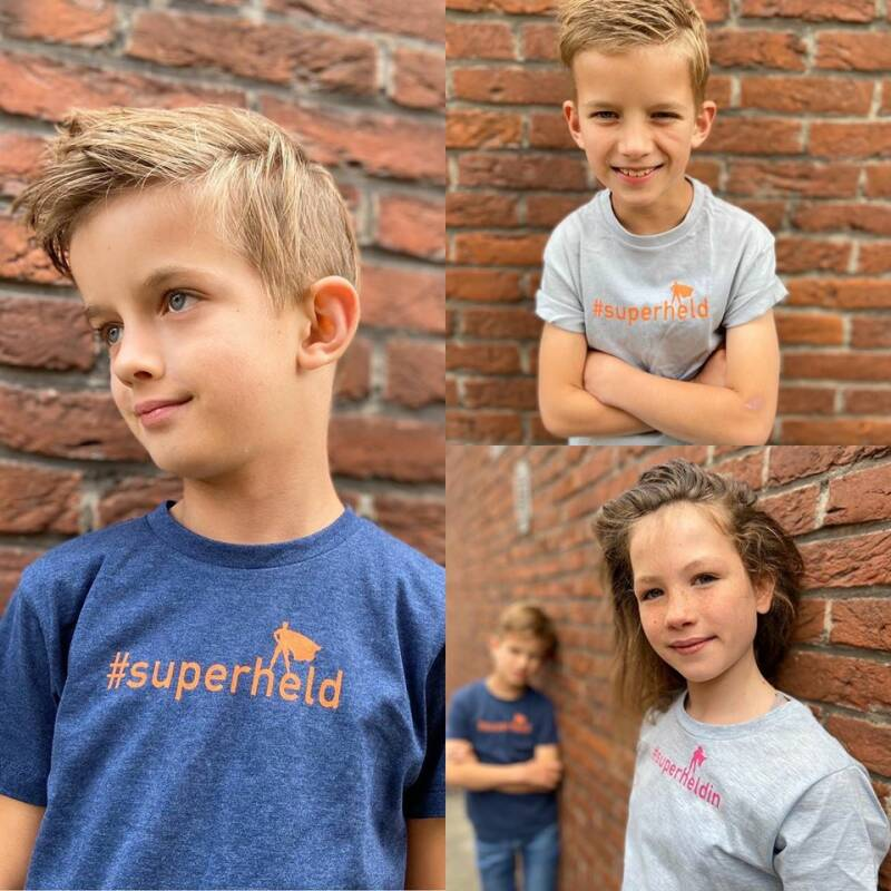 #superheld - Grijs - 6 year