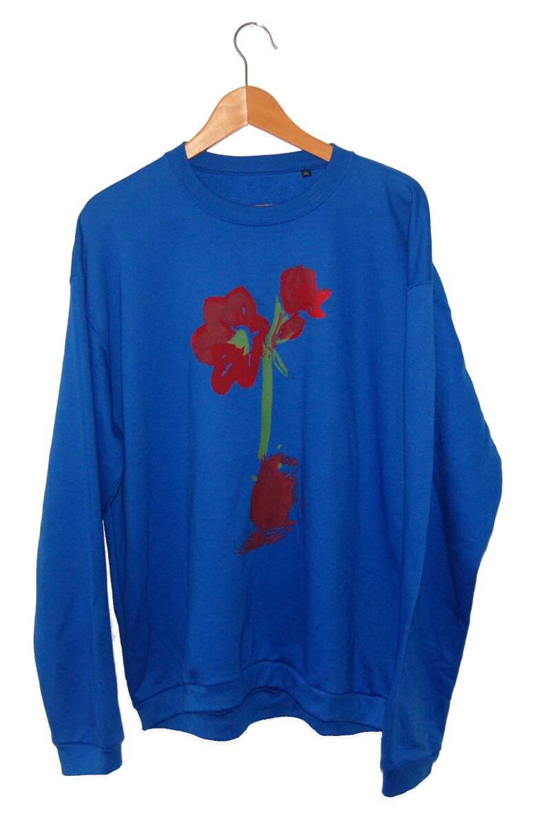 Sweater -Amaryllis-,  Royal Blue. Maat XL