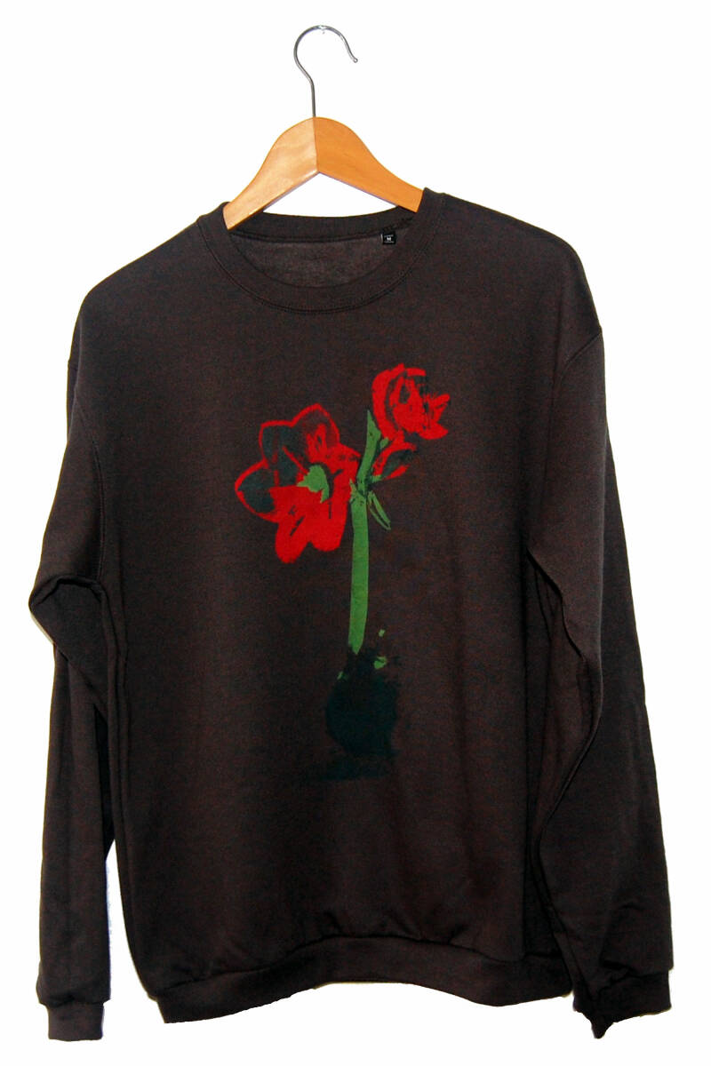 Sweater -Amaryllis-, Antraciet. Maat M