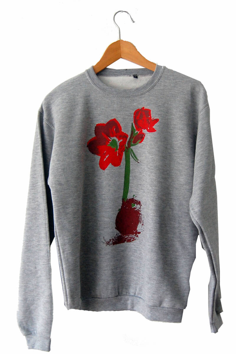 Sweater -Amaryllis-, Heather Grey. Maat S.