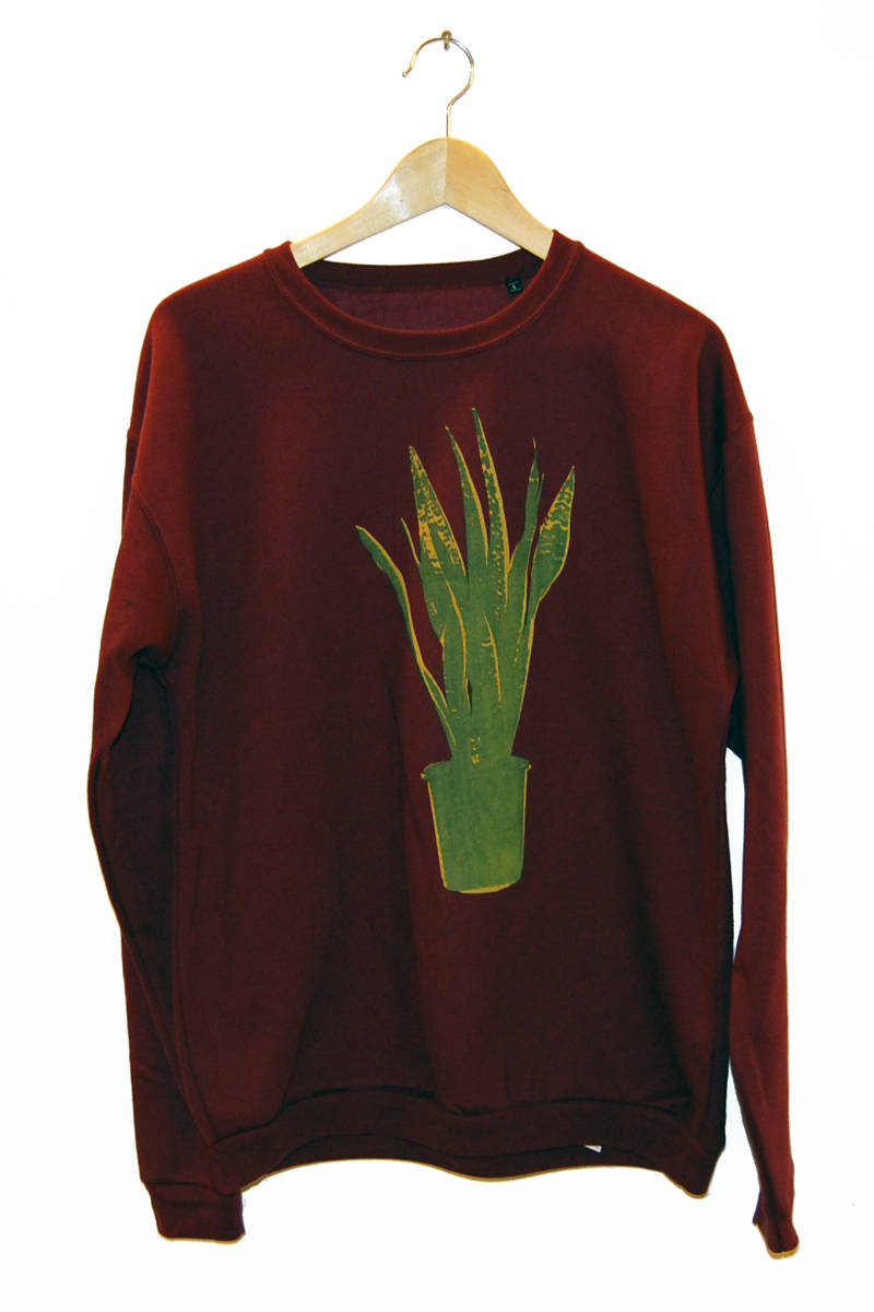 Sweater - Sanseveria-, burgundy. Maat L