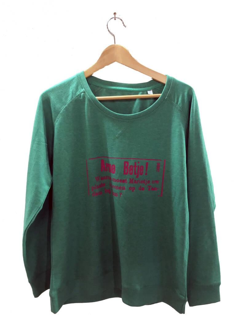 Sweater -Advertentie Betje- Heather Green. Maat XL. Lovely Lady