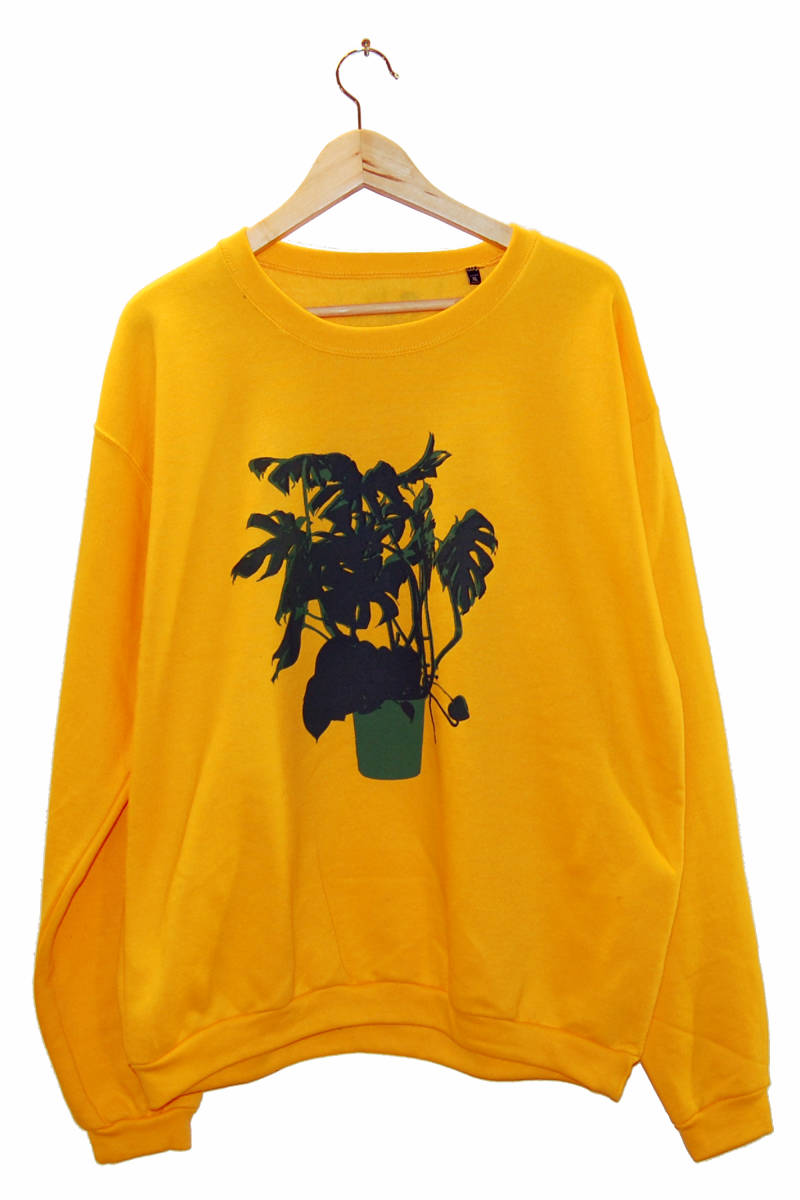 Sweater -Vingerplant-, Geel/gold. Maat XL.