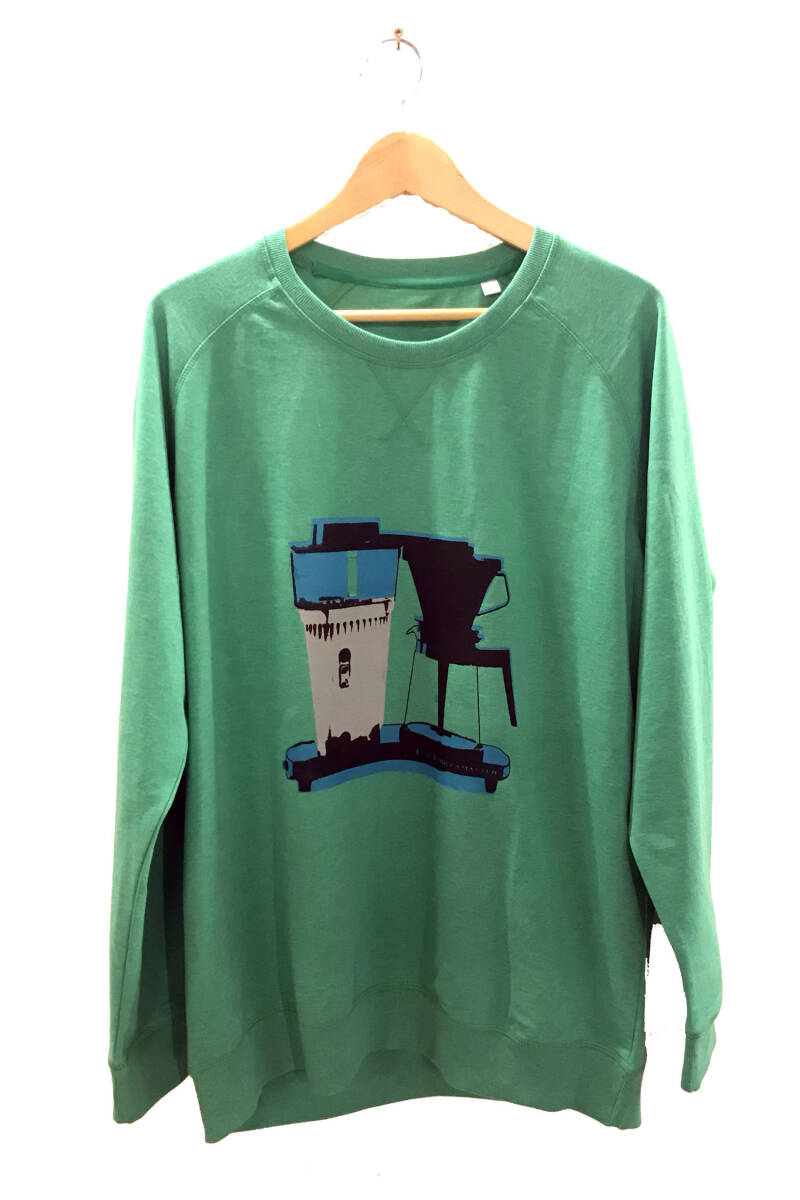 Sweater - Koffie- Heather Green. Maat XXL. Men