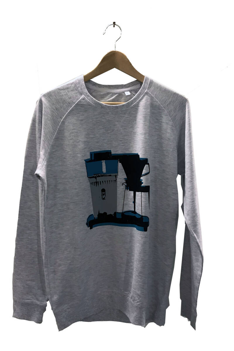 Sweater -Koffie- Ash Grey. Maat M - Men