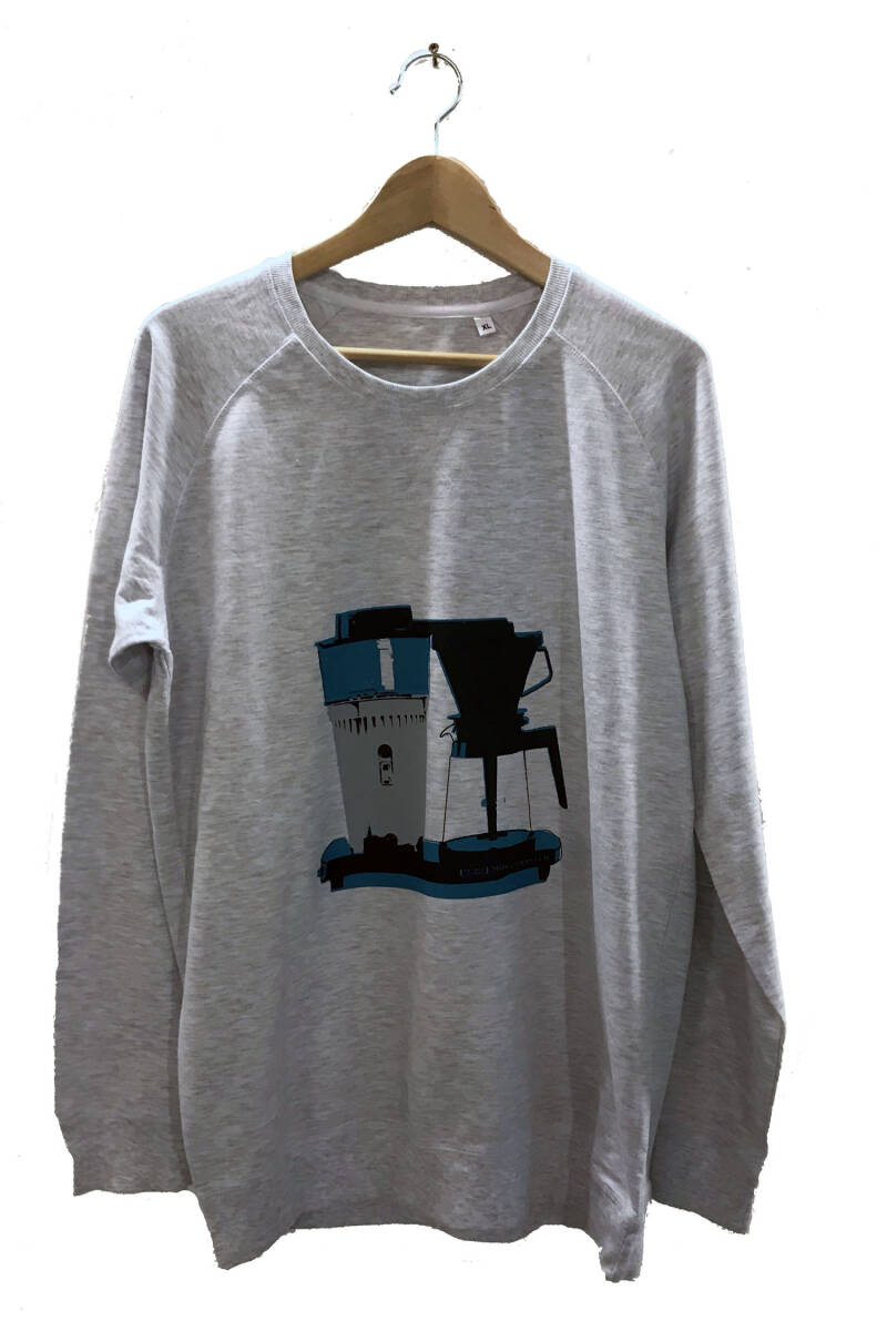 sweater -Koffie- Ash Grey. Maat XL. Men