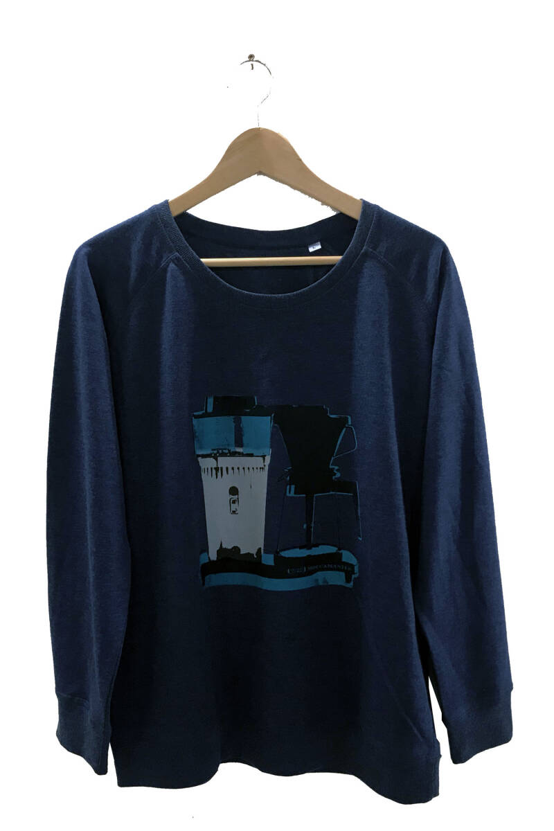 Sweater -Koffie- Heather Indigo. Maat L. Lovely Lady