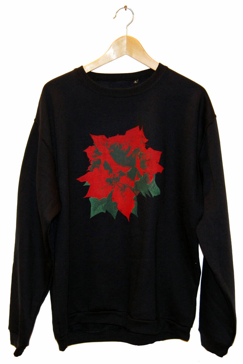 Sweater -Kerstroos-, Navy Blue. Maat XL
