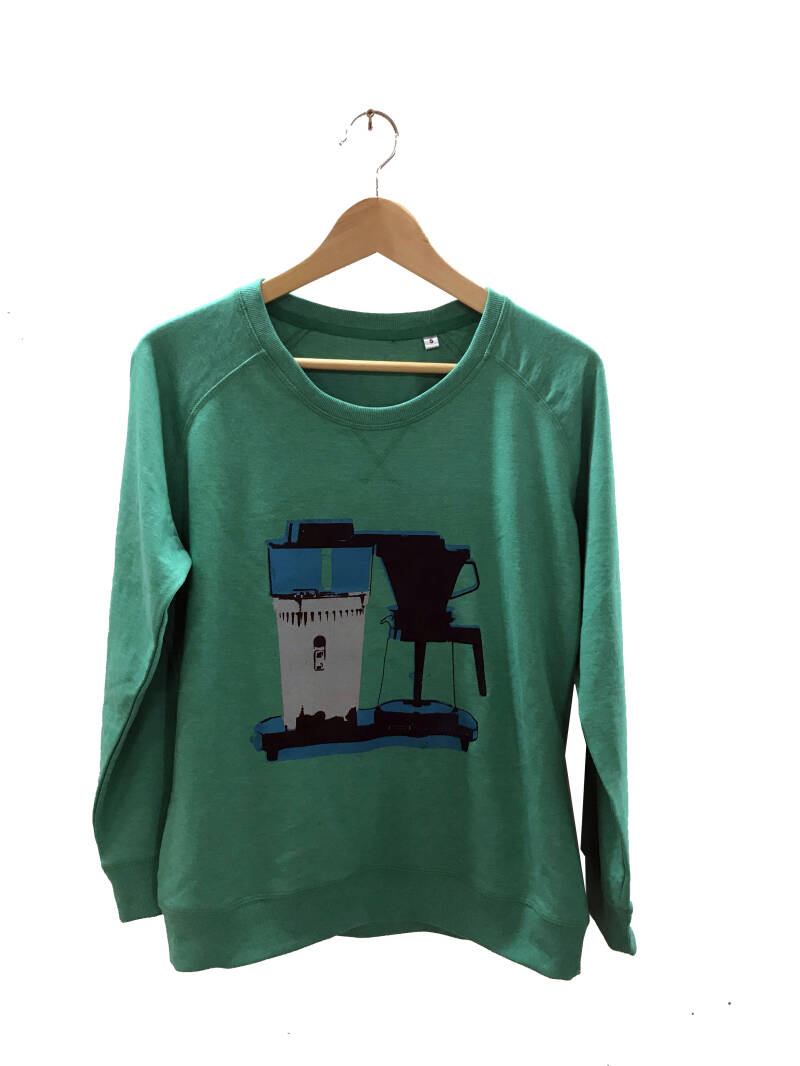 Sweater - Koffie- Heather Green. Maat S. Lovely Lady