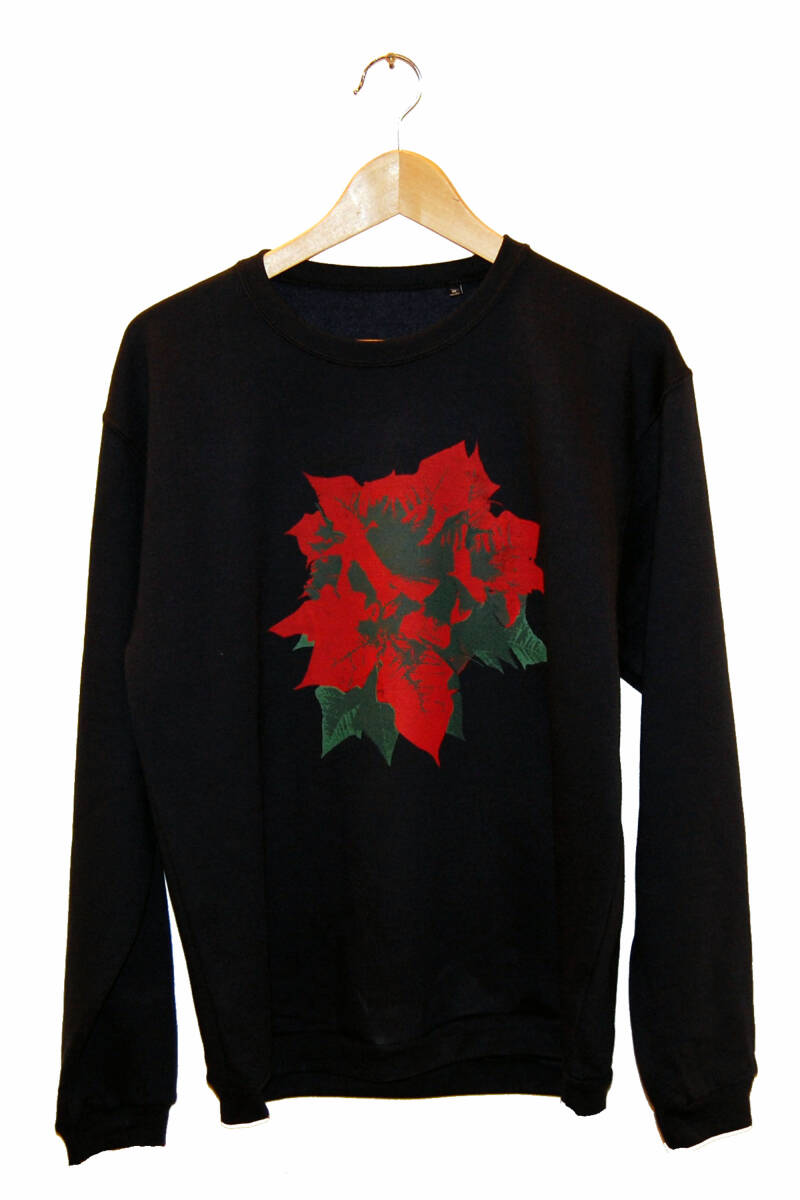 Sweater - Kerstroos-, Navy Blue. Maat M