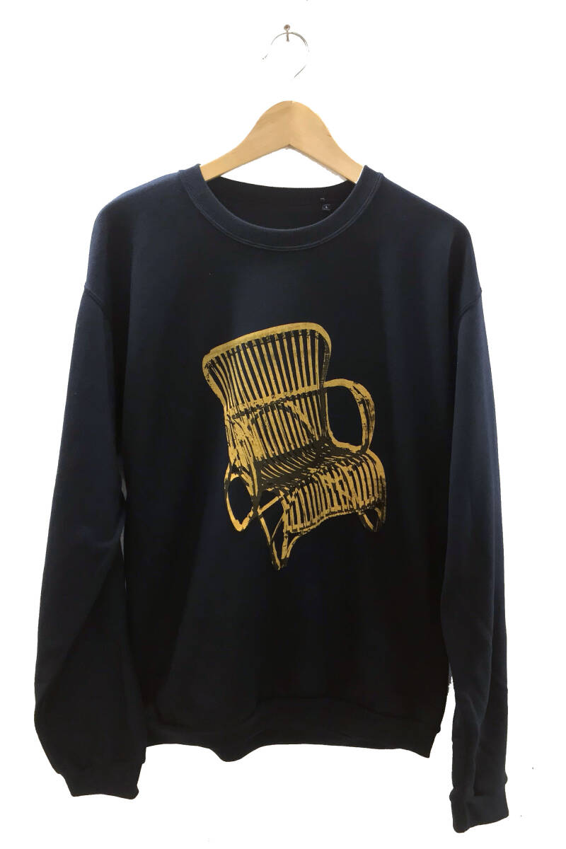 Sweater -Rotan Stoel- Dark Blue. Maat L