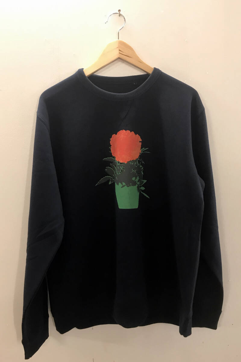 Sweater -Afrikaantje- French Navy. Maat L. Uni