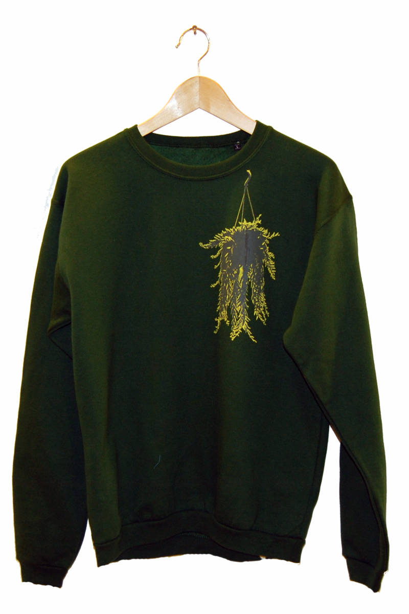 Sweater -Hangplant-, bottle green. Maat L.