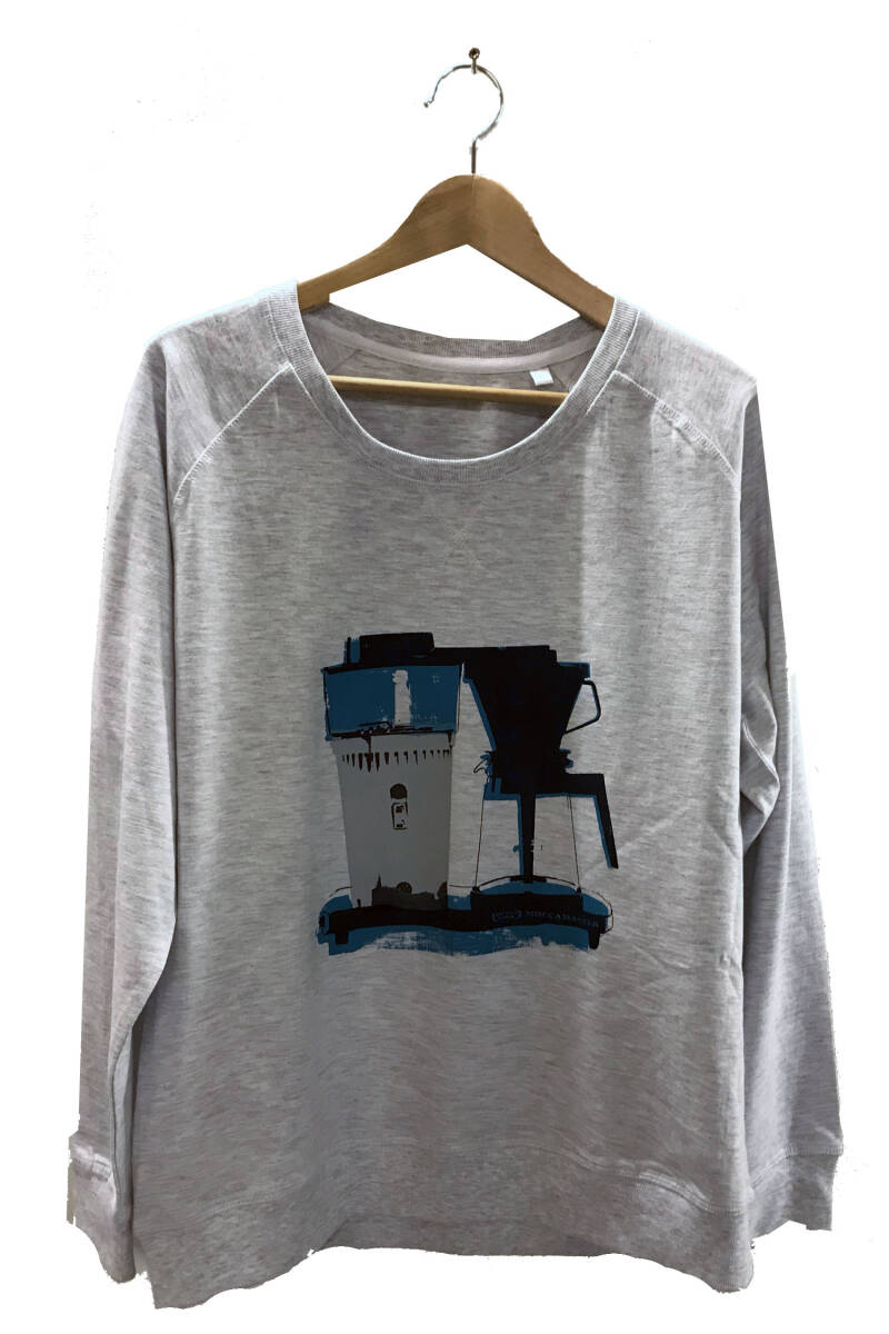 Sweater -Koffie- Ash Grey. Maat XL. Lovely Lady