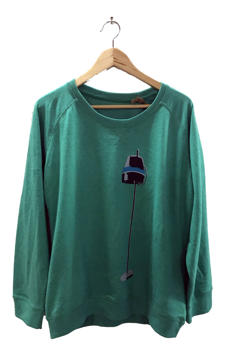 Sweater -Droogkap- Heather Green. Maat L. Lovely Lady