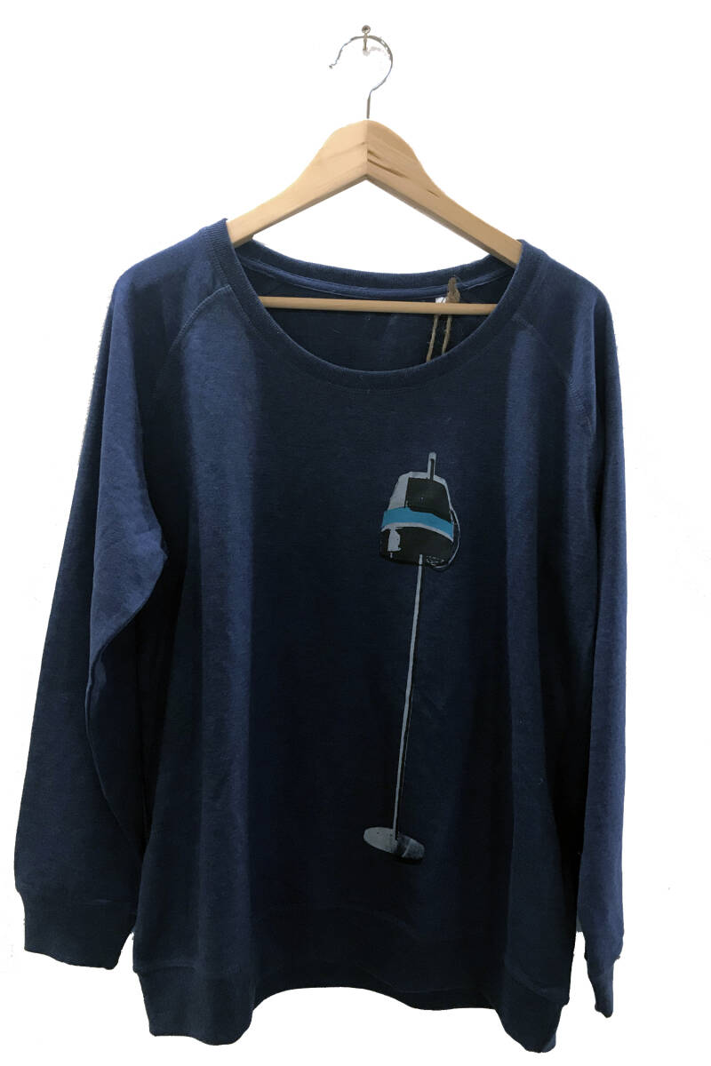 Sweater -Droogkap- Heather Indigo. Maat XXL. Lovely Lady.