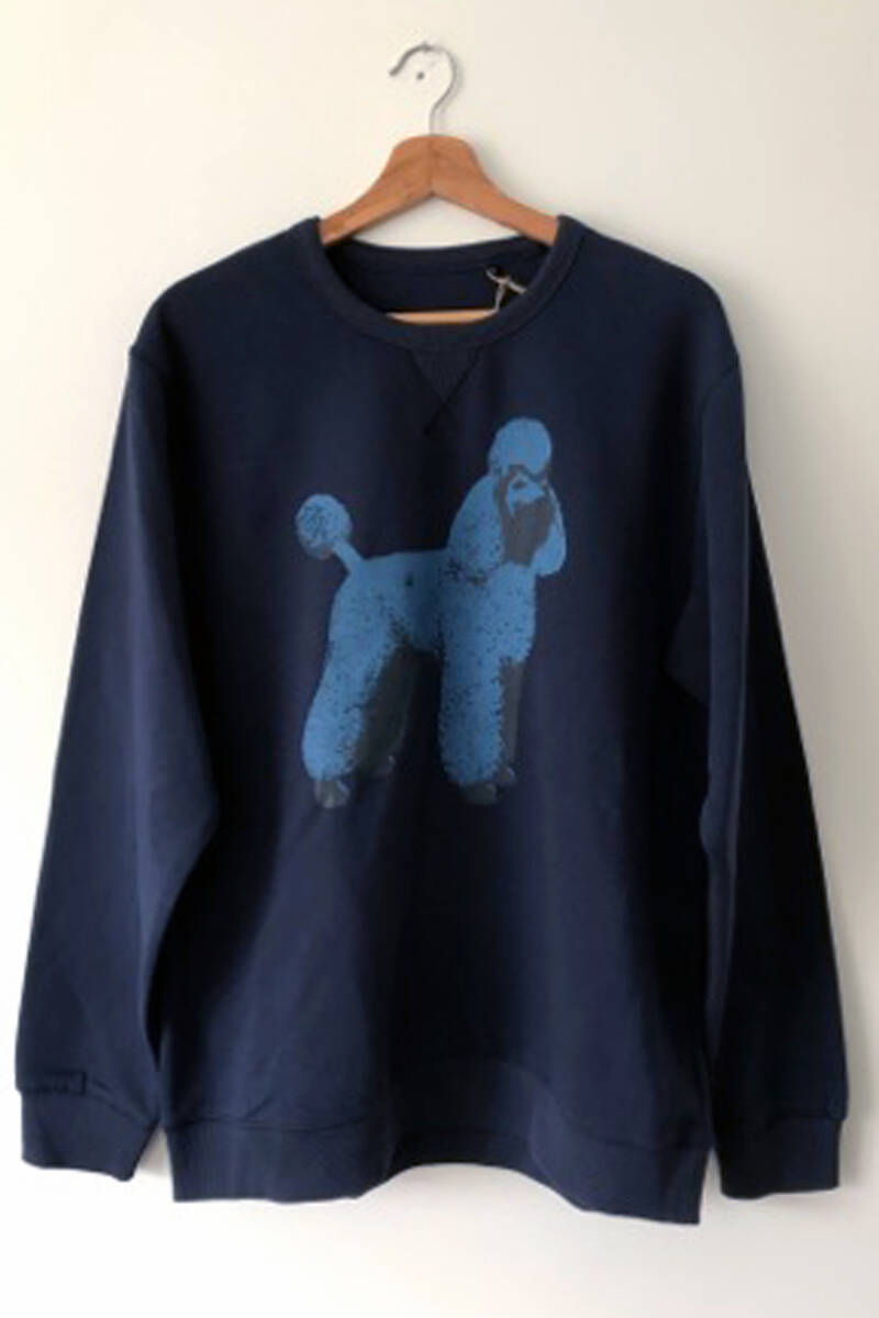 Sweater -Poedel- French Navy. Maat XL. Uni