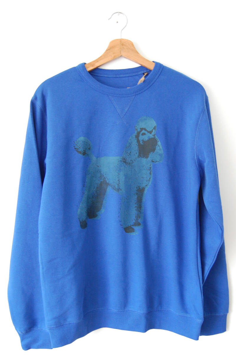 Sweater -Poedel- Royal Blue. Maat S. Uni