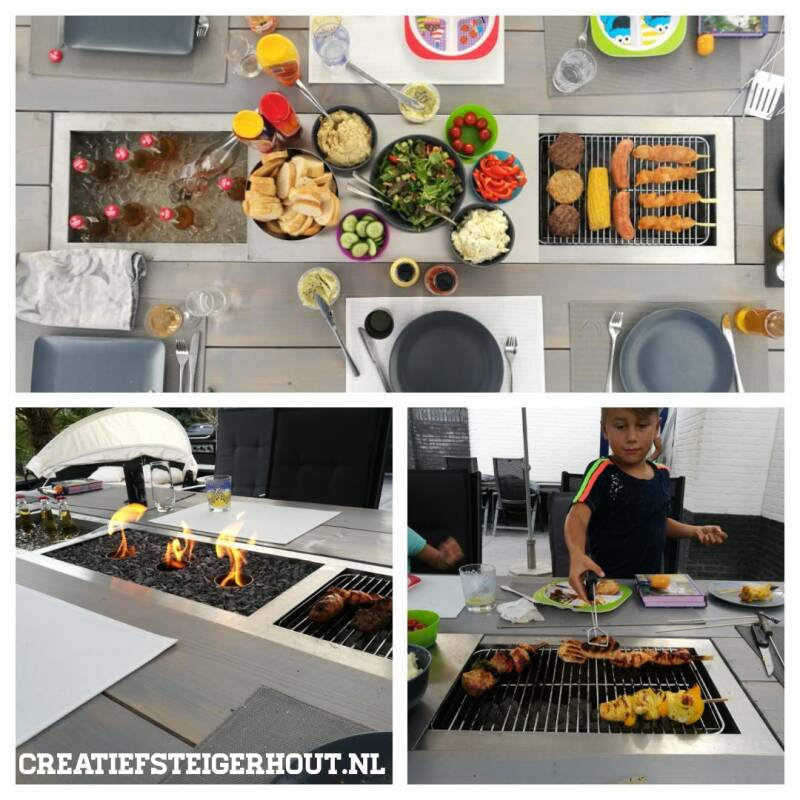 Barbecuetafel steigerhout greywash