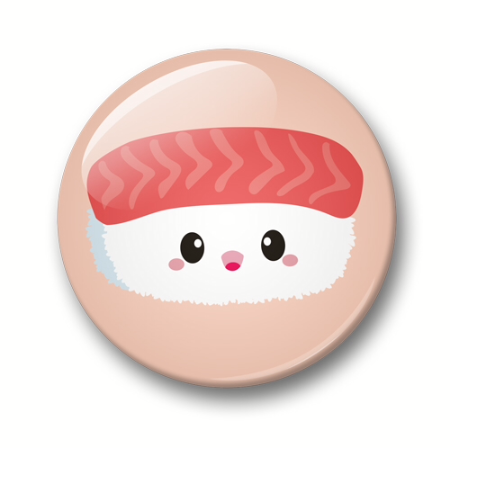 Button: sushi (32mm) - Studio Inktvis