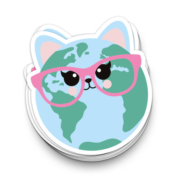 Sticker: cat world - Studio Inktvis