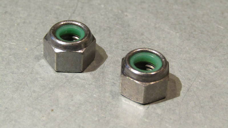CAMPAGNOLO NUOVO RECORD Brake Caliper Fixing Nuts GREEN 2X NOS BXC00A22*
