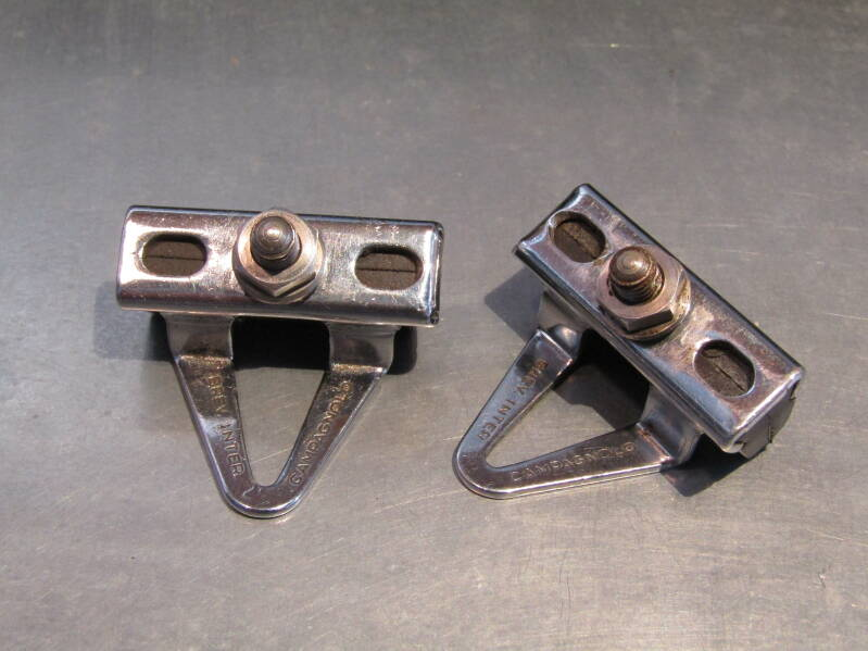 CAMPAGNOLO VICTORY Brake block holders with NOS pads 2nd hand TL08 04-B02-003-02 4/27/21
