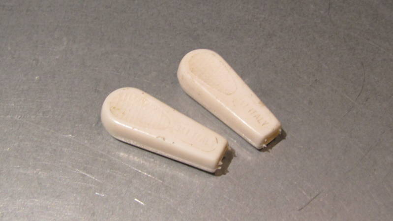 REG Gear / Hub QR Lever covers WHITE NOS! BX36a