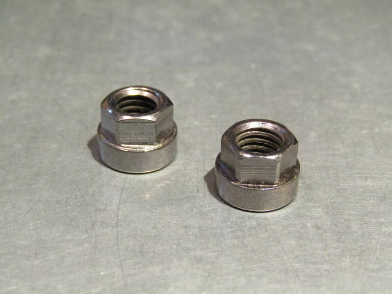 CAMPAGNOLO NUOVO/SUPER RECORD Brake lever mounting nuts 2X MINT! TL02 04-B02-C05-02 4/29/21